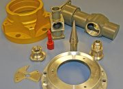 Group of various sized CNC machined parts