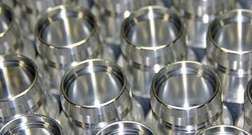 Rows of precision CNC machined parts | Quality