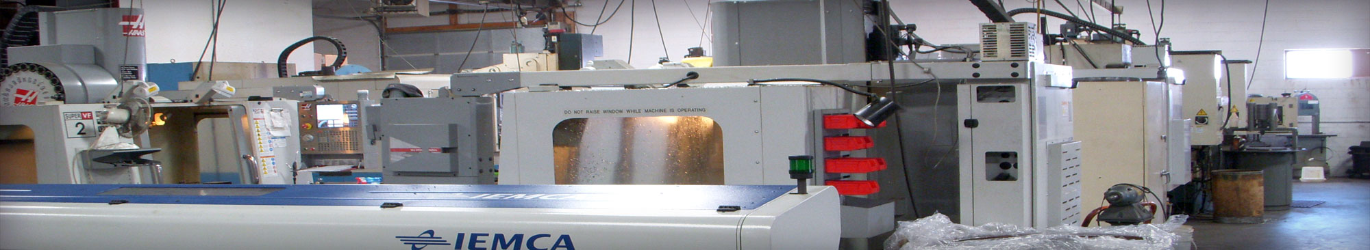 CNC Machines inside Quality Contours machining shop